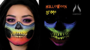 halloween grime make-up